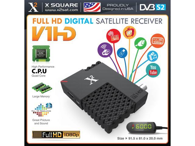 X2 V1 Mini HD DVB-S2 (FTA) Free To Air Only with IPTV Hybrid Satellite  Receiver & PVR, YouTube, Online Update, USB WiFi - New Version - Newegg com