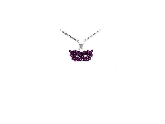 Glamorous Harlequin Mask Pendant in Sterling Silver and ... - photo#8