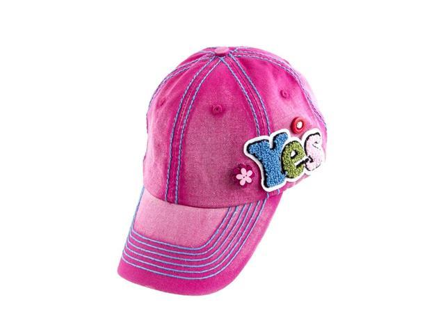 b9de84fd5 Fuzzy Yes Pink Washed Denim Contrast Stitch Design Cap with Ornate Wood  Accent
