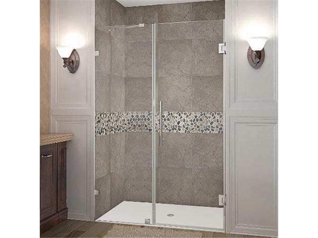 Astonglobal Sdr985 Ss 48 10 Nautis X 72 In Completely Frameless Hinged Shower Door Stainless Steel Newegg