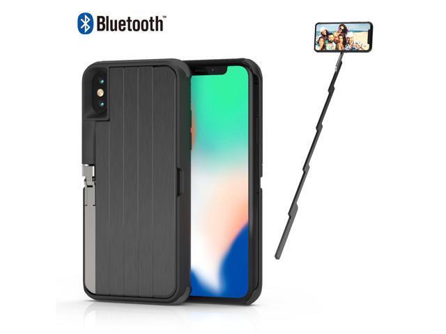 brand new 3243b fc088 Selfie Stick Case iPhone X ETROBOT 3 in 1 iPhone X Case Cover Extendable  Wireless Rechargeable Bluetooth Selfie Stick Aluminium Kickstand Phone  Stand ...