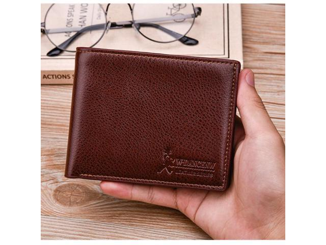 ccf99d2ad41e Top 2018 Vintage Men Leather Brand Luxury Wallet Short Slim Male Purses  Money Clip Credit Card Dollar Price Portomonee Carteria - Newegg.com