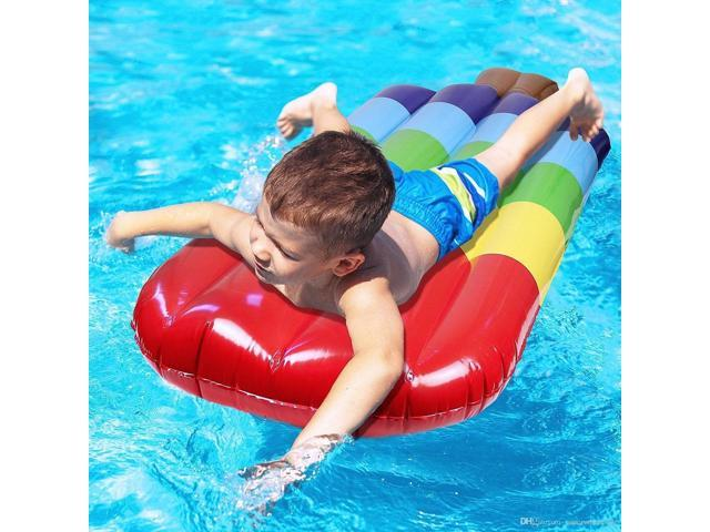 Inflatable Popsicle Shaped Floating Mat Swimming Ring, Inflated Size: 145 x  46cm - Newegg.com