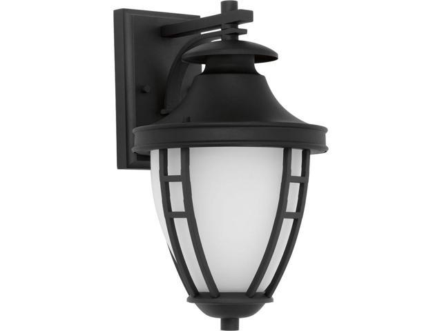 Progress Lighting Fairview Collection 1 Light Outdoor Textured Black Led Wall Lantern P5778 3130k9di Newegg