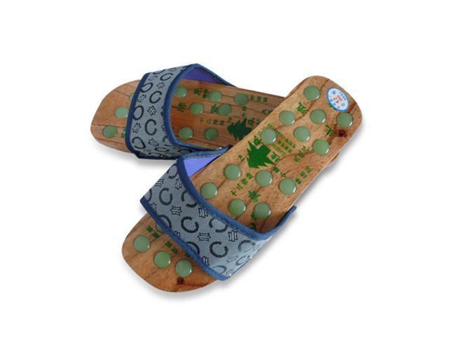7a8efd198ab Wood Massage Slipper with Acupressure Stones for Improved Foot Care -  Newegg.com