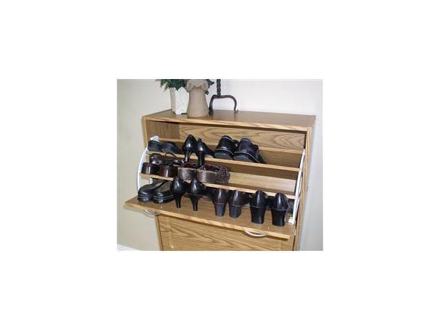 4D Concepts 76153 Deluxe Triple Shoe Cabinet   Oak