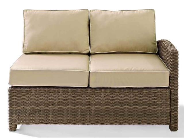 Terrific Outdoor Wicker Sectional Left Corner Loveseat In Sand Onthecornerstone Fun Painted Chair Ideas Images Onthecornerstoneorg