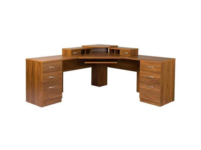 American Furniture Classics L Work Center With Monitor Platform In