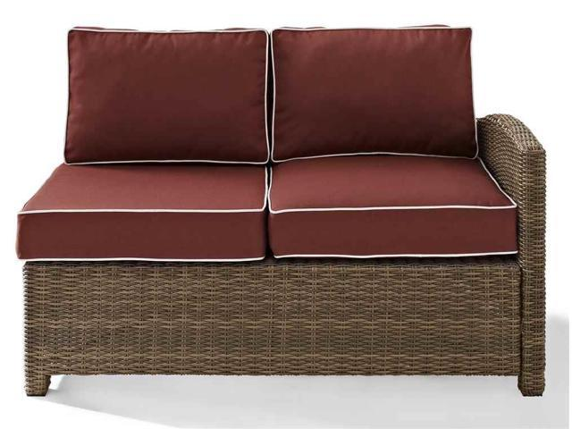 Pleasant Outdoor Wicker Sectional Left Corner Loveseat Onthecornerstone Fun Painted Chair Ideas Images Onthecornerstoneorg