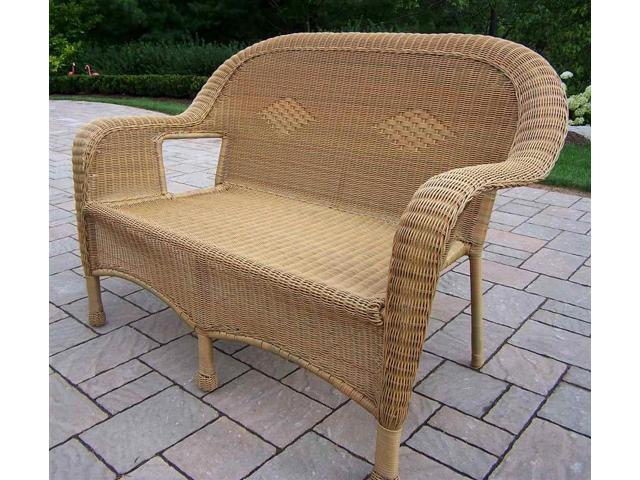 Admirable Oakland Living Corporation 90027 L Hn Resin Wicker Loveseat Newegg Com Cjindustries Chair Design For Home Cjindustriesco