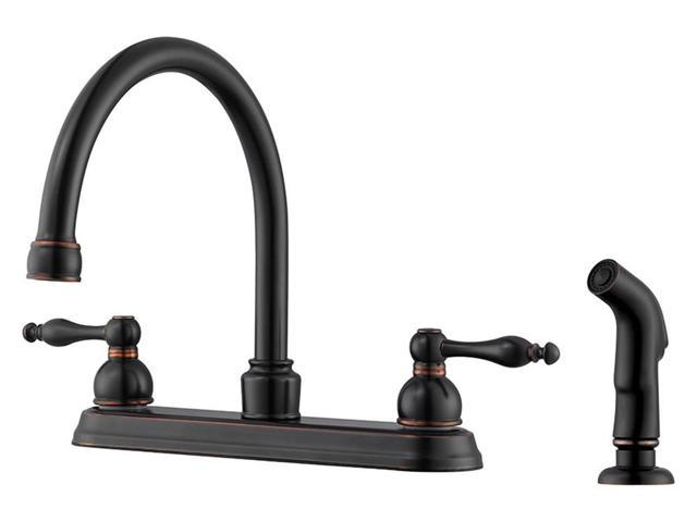 Kitchen Faucet With Side Sprayer In Oil Rubbed Bronze Finish Newegg Com