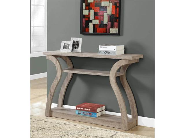 ,A Dark Taupe Monarch Accent Table 47 L//Dark Taupe Hall Console