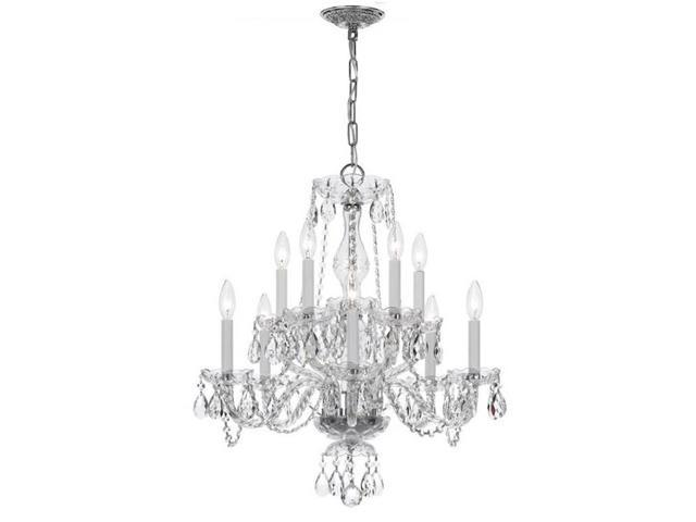 crystorama 5080-ch-cl-s ten light chandelier