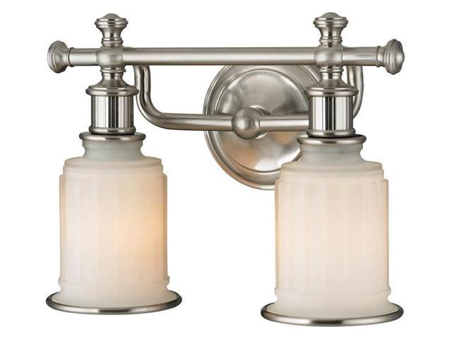 Progress Lighting Lucky Collection 4 Light Brushed Nickel: Elk Lighting Acadia Collection 2 Light Bath In Brushed