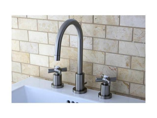 Kingston Brass KS8958ZX Kingston Brass Millennium Mini Widespread Kitchen  Faucet, Satin Nickel