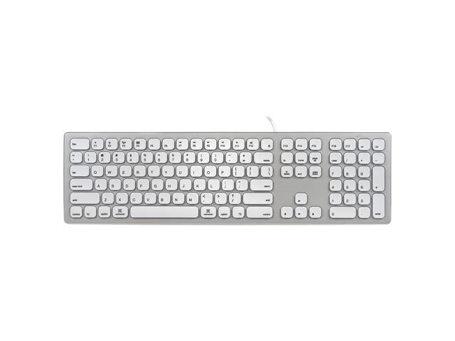 perixx periboard 325 wired silent backlit aluminum keyboard compatible with mac os x imac slim. Black Bedroom Furniture Sets. Home Design Ideas