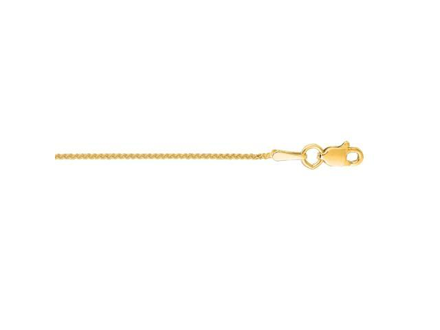 """10k Yellow Gold Round Wheat Necklace Pendant Chain 16/"""" 1.0mm"""