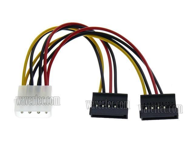 "Net Jacket 2 - Canada 15Pin SATA II Female Power Cable 12/"" 4Pin MOLEX Male to"
