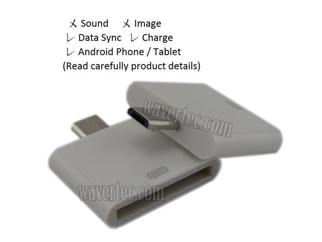 Adapter for Apple 30 Pin Dock Female to Micro USB Male Data Sync and Charge  Connector fcea17a254e9