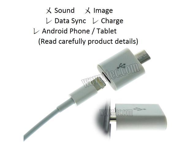 Apple 8 Pin Lightning Female to Micro USB Male Adapter iPhone 6 Plus 5S iPad Mini