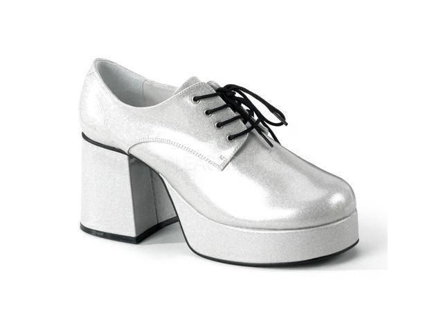 Silver 70s Disco Costume Mens Platform