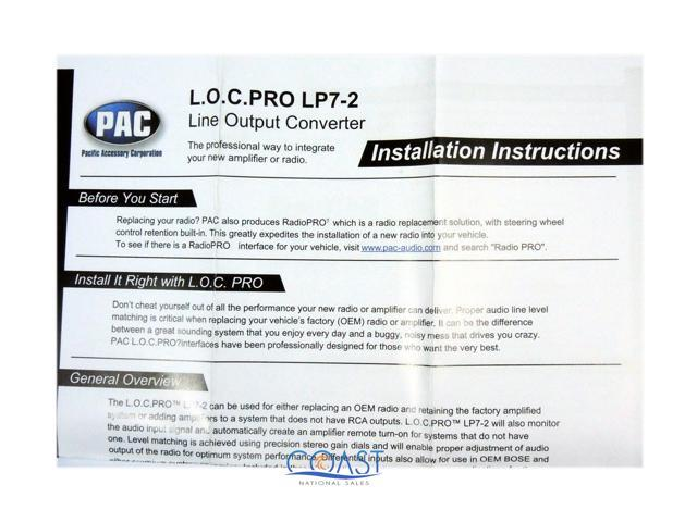 PAC LP7-2 Universal 2-Channel Line Output Converter with Remote Turn-On  Circuit - Newegg com