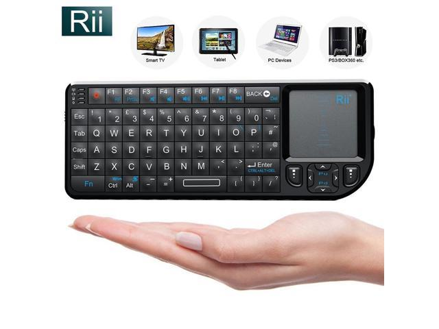 Rii 2 4G Mini Wireless Keyboard with Touchpad, Laser Pointer with Remote  Control, Backlit Portable Keyboard Controller with USB Receiver for