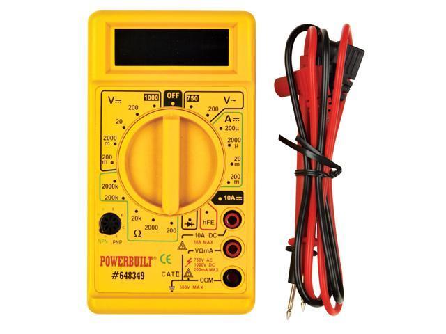 Automotive Digital Multimeter : Powerbuilt digital multimeter power meter automotive meter