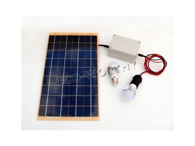 10W Off-Grid Solar Lighting System with LED Lights, Solar Panel and Battery  solat panel for homes - Newegg com