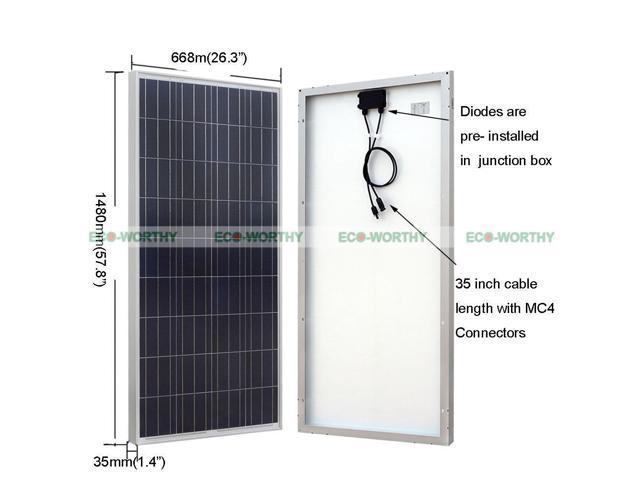 560W Kit: 400W Wind Turbine Generator + 20A Controller+160W Poly Solar  Panel - Newegg com