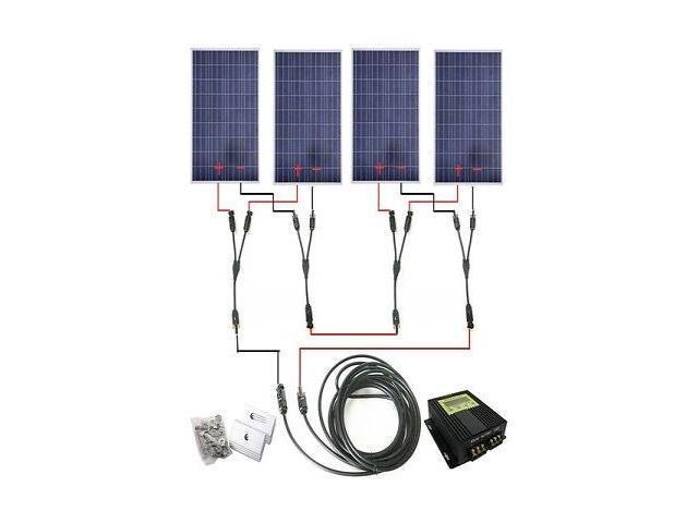 USA STOCK LCD MPPT COMPLETE KITS: 400 Watt 400W 4×100W Solar Panel 24V RV  Boat W/meter - Newegg com
