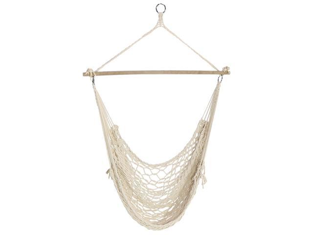 Groovy Sunnydaze Cotton Rope Hanging Hammock Chair Swing Indoor Outdoor Use 330 Pound Weight Capacity Newegg Com Pabps2019 Chair Design Images Pabps2019Com