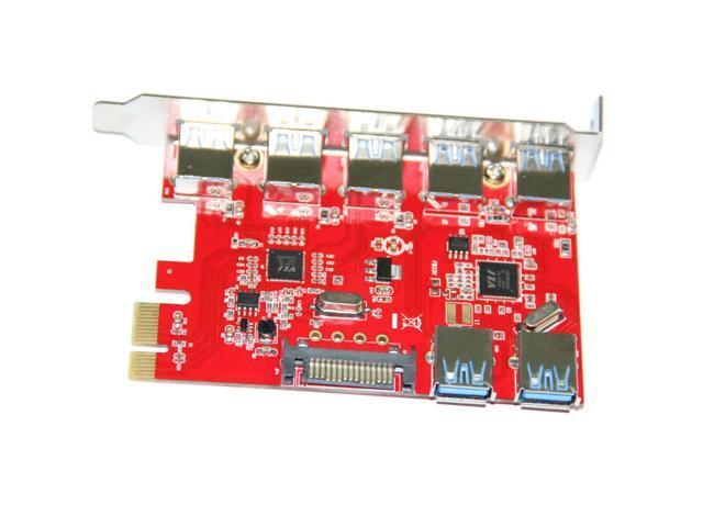 WBTUO LTU3-52P Desktop PCI-E to 5-Port USB 3.0 Built-in 2-Port USB 3.0 Express
