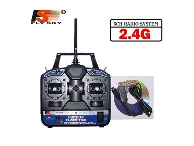 FlySKY FS 6CH 2 4G FS-CT6B RC Transmitter & receiver Remote controller 6  channel for Heli/Airplane/Glid/Copter - Newegg com