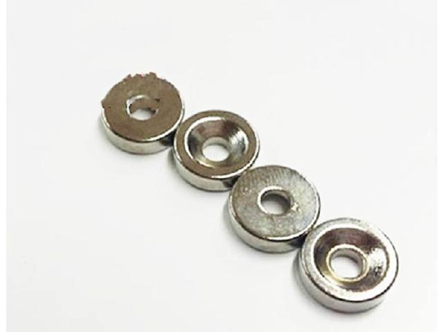 50pcs Neodymium Disc Magnets Dia 10mm x 3mm with 3mm Sink Hole N35 F15179