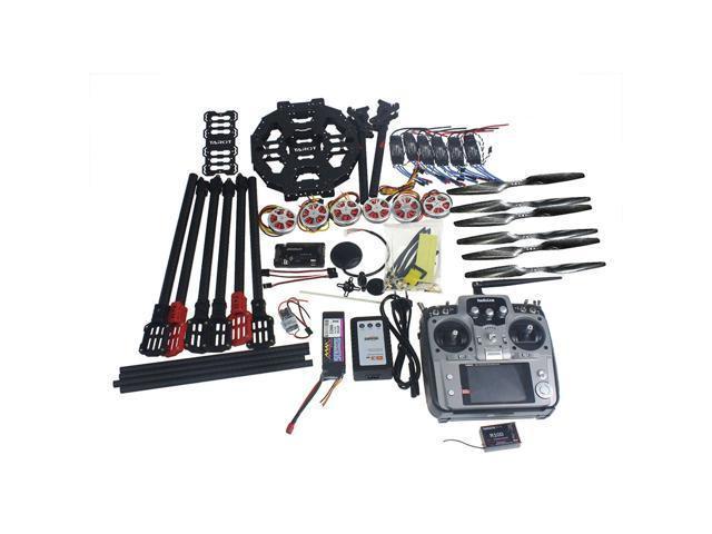 Full Set Hexacopter Drone 6-axle Aircraft Kit Tarot FY690S Frame 750KV  Motor GPS APM 2 8 Flight Control AT10Transmitter - Newegg com