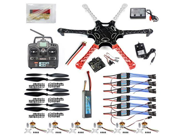 Hex-Rotor HexaCopter RTF W/ F550 FlameWheel Kit + KK 2 3 Controller + ESC  Motor Weld&debug Battery TX RX Pros - Newegg com