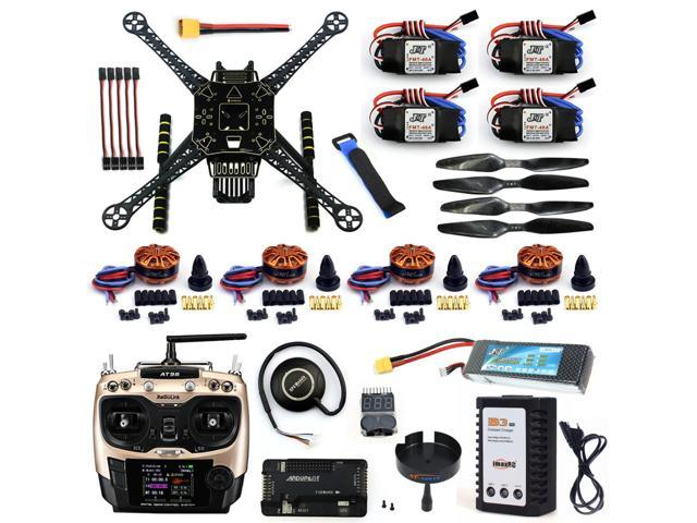 DIY Unassembled 4 Axle RC FPV Drone S600 Frame Kit with APM 2 8 No Compass  700KV Motor 40A ESC Battery Charger AT9S TX - Newegg com