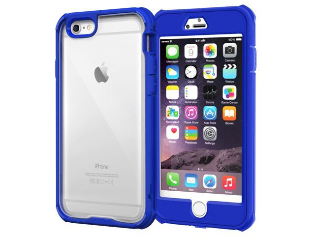 new arrival 19cbc 69167 iPhone 6s Plus Case, roocase [Glacier TOUGH] iPhone 6 Plus Hybrid Clear PC  / TPU Armor Full Body Case Cover with Built-in Screen Protector for Apple  ...