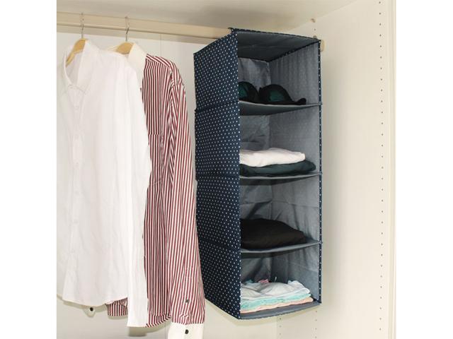 New Portable Folding Wardrobe Clothes Closet Garment Storage Bag Shelves  Velcro Hanger Bedroom Furniture Deep Blue