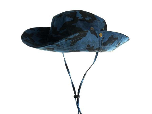 1PC New Men Women Unisex 100% Cotton Camo String Bucket Hat Boonie Hunting  Fishing Outdoor 0e678ee9774