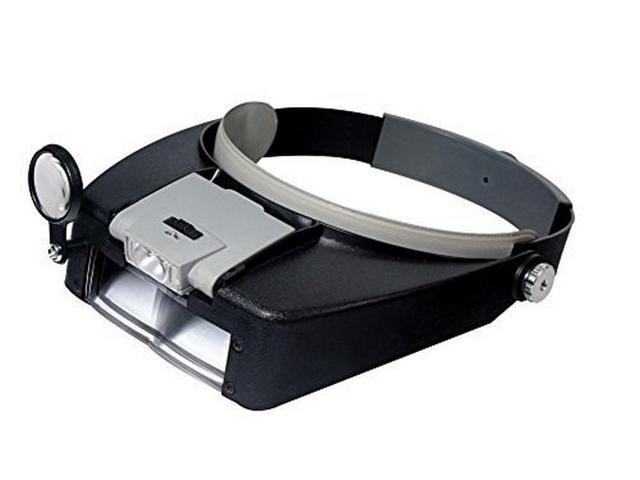 a765c7b8a70 Wearable Magnifying Glasses with LED Work Light (Head Visor Style Magnifier