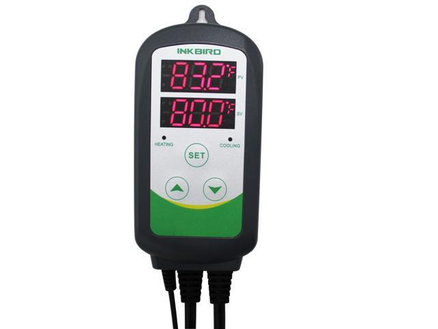 Inkbird Itc-308 Digital Temperature Controller Outlet Thermostat, 2-stage,  1000w, w/ Sensor - Newegg com