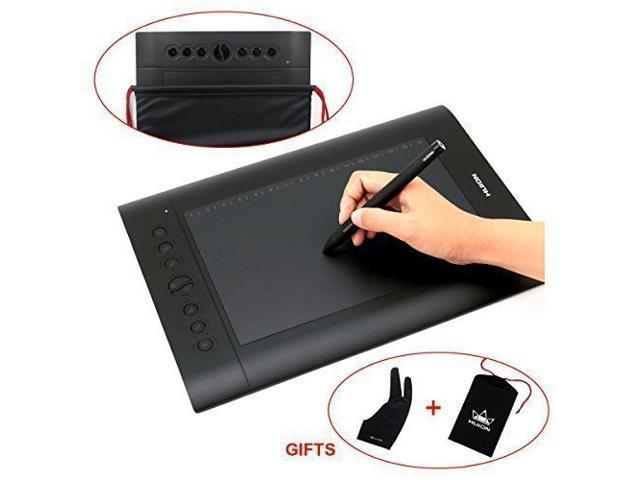 Huion H610 Pro 10 x 6 25 Inch Graphic Drawing Tablet with Pen, 8 Shortcut  Keys, Carrying Bag, and Glove - Newegg com