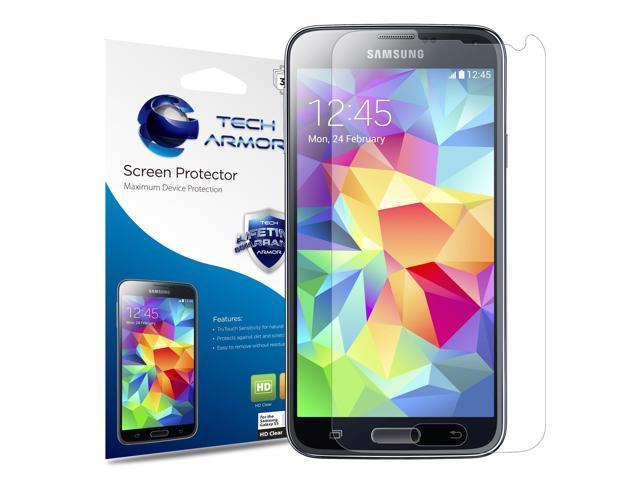Galaxy S5 Screen Protector, Tech Armor High Definition HD-Clear Samsung  Galaxy S5 Film Screen Protector [3-Pack] - Newegg com