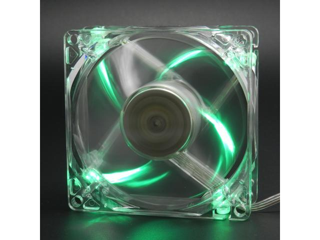 Lots 4 80mm 4-LED Light Neon GREEN Clear PC Computer Case Cooling Fan CPU Cooler