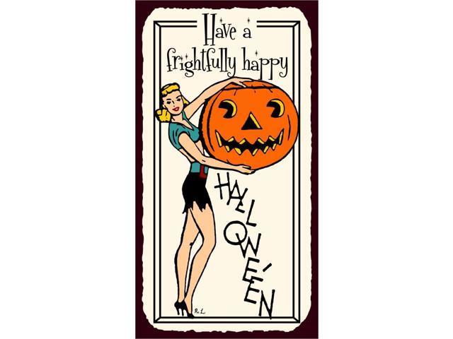 Retro Vintage Halloween Clip Art.Have A Frightfully Happy Halloween Vintage Metal Art Retro Tin Sign Newegg Com