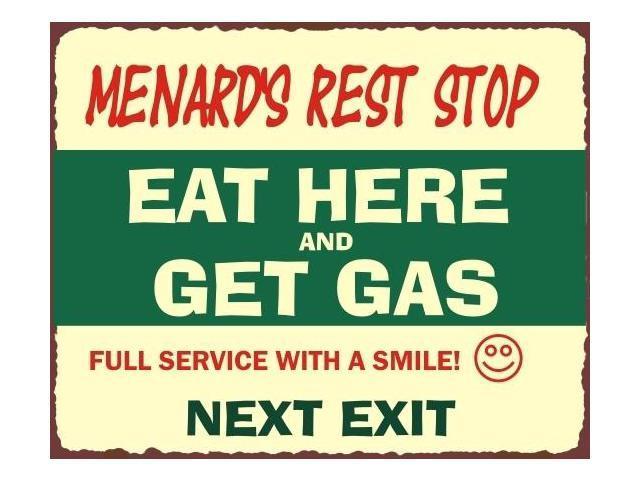 Menards Rest Stop Vintage Metal Art Automotive Retro Tin Sign - Newegg com