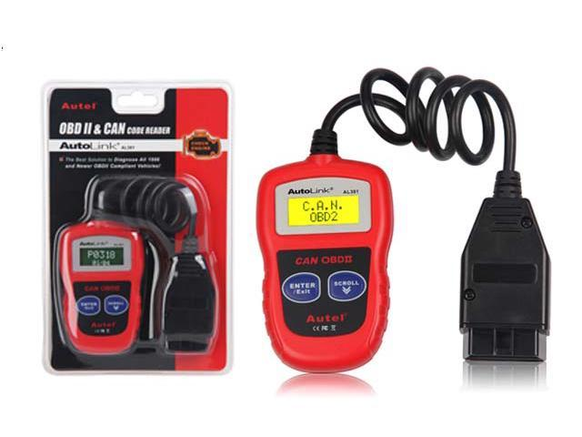 Autel AutoLink AL301 OBDII & CAN Auto Code Reader Scanner Auto Diagnosis  Scan Tool - Newegg com