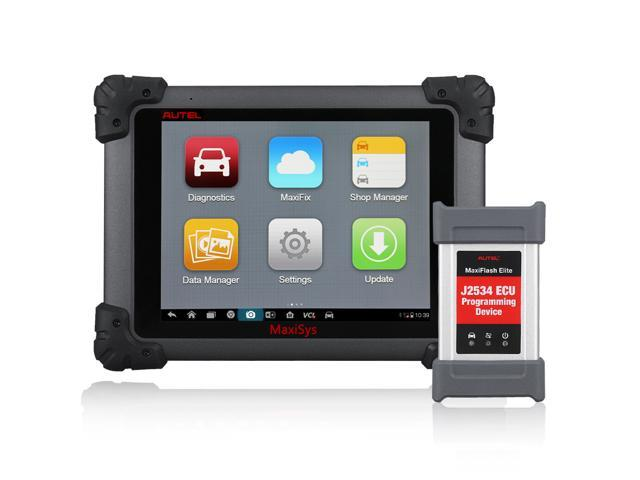 Autel MaxiSYS Elite Automotive Diagnostic & ECU Coding Programming System  with Wifi/Bluetooth OBDii Full Diagnostic Scanner with J2534 ECU  Programming